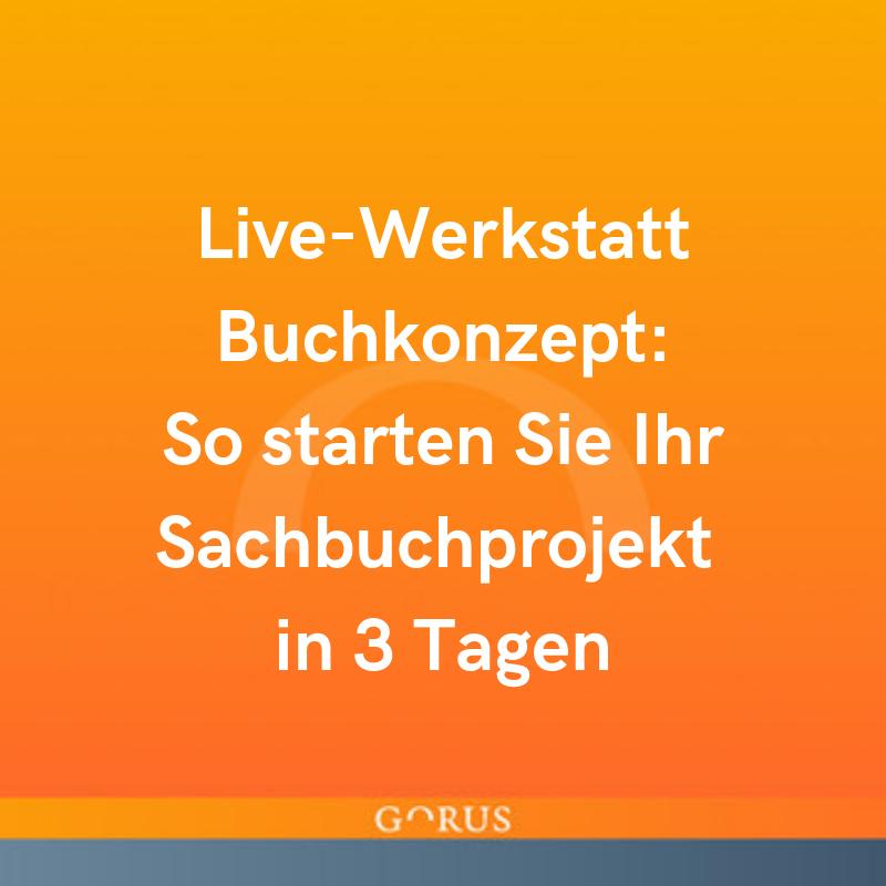 Live-Werkstatt Buchkonzept
